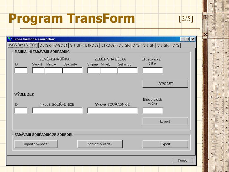 Program TransForm [2/5]